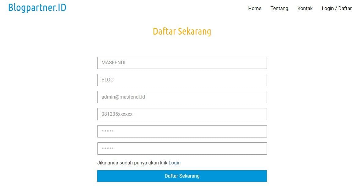Daftar blogpartner.id
