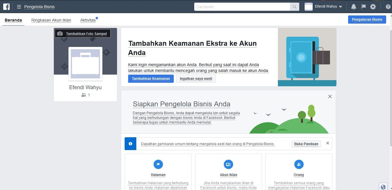 Pengelolaan Bisnis Facebook