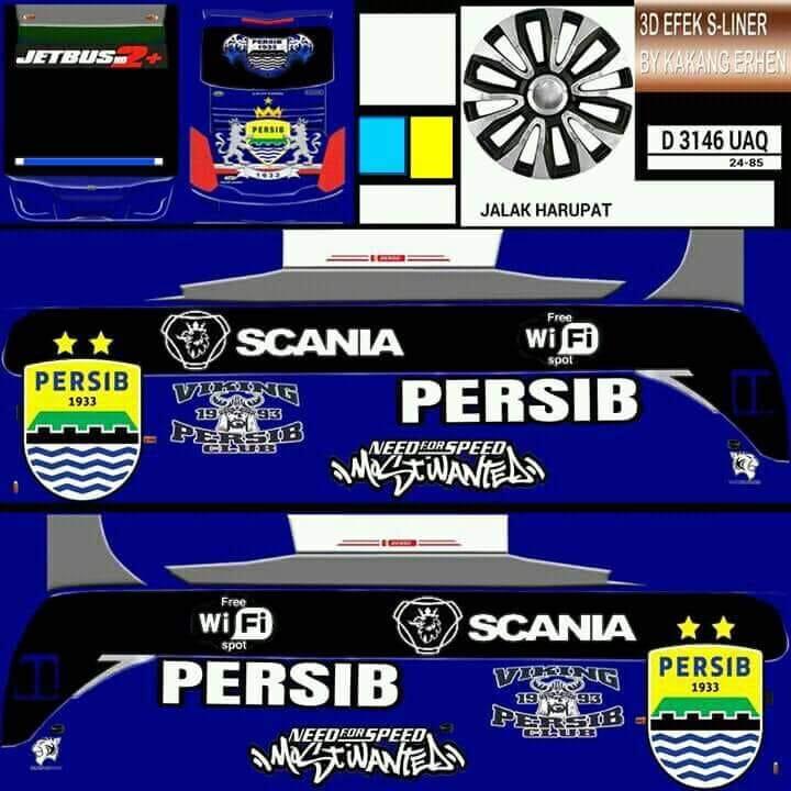 Livery Bus Persib Bandung